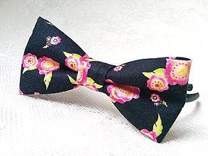 Ozdoby do vlasov - Romantic headband (black/flowers) - 9322813_
