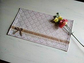 Úžitkový textil - Romantické prestieranie Ivory Love elegant... - 9323571_