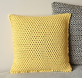 Úžitkový textil - Vankúš háčkovaný žltý - 9321950_
