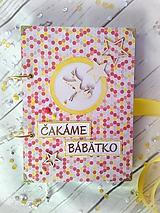 Papiernictvo - Tehotenský denník (viazanie kovovými kruhmi) - 9319778_