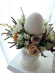 Dekorácie - Veľkonočná dekorácia s vajíčkom - 9319976_