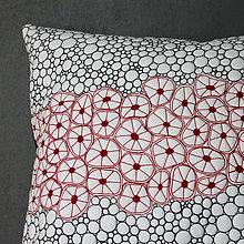 Úžitkový textil - Černobílá tentokrát s trochou červené - 9319892_