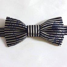 Doplnky - Luxusný HODVÁBNY motýlik zlato/modrý - 9323092_
