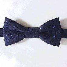 Doplnky - Luxusný HODVÁBNY motýlik - modrý - 9323209_