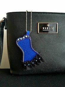 Kľúčenky - Modré spoločenské šaty - 9321581_