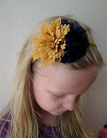 Ozdoby do vlasov - Detská čelenka No. 487 - 9321270_