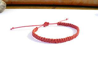 Náramky - Červený náramok 1 - 9321272_