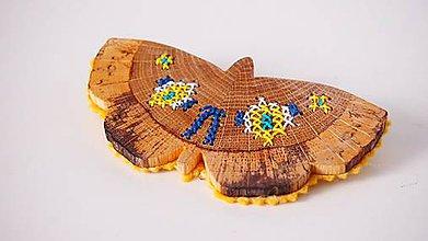 Odznaky/Brošne - Brošňa - motýľ FOLK - 9322099_