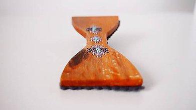 Iné šperky - Motýlik - šeda a lila elegancia FOLK - 9323409_