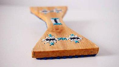 Iné šperky - Motýlik - tyrkys FOLK - 9323434_