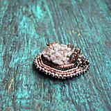 Odznaky/Brošne - Crystals n.3 - vyšívaná brož   - 9322862_