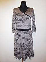 Šaty - Černá písmenka - 9320665_