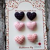 - Náušky Pink cena za jeden pár (tmavofialová) - 9320487_