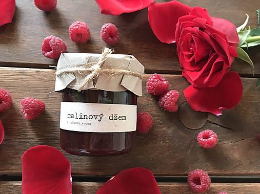 Malinový džem s ružovou vodou