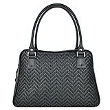 Ručne vyšívaná kabelka z pravej kože v čiernej farbe - čierne vyšívanie