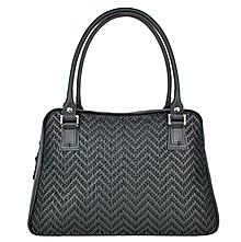 Kabelky - Ručne vyšívaná kabelka z pravej kože v čiernej farbe - čierne vyšívanie - 9322582_