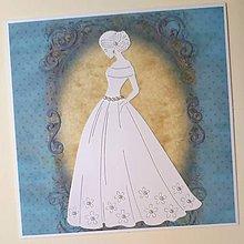 Papiernictvo - Svadobná pohľadnica - 9322370_