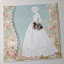 Papiernictvo - Svadobná pohľadnica s krabičkou - 9323778_
