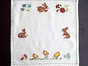 Úžitkový textil - Vyšívané prestieranie -  veľkonočné (1) - 9321042_