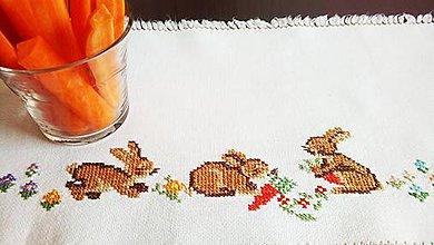 Úžitkový textil - Vyšívané prestieranie - veľkonočné (2) - 9321578_