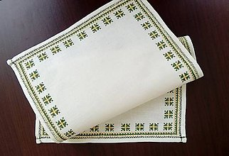 Úžitkový textil - Vyšívané prestieranie - jarné (2) - 9322051_
