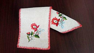 Úžitkový textil - Vyšívaná dečka - kvetovaná - 9322517_