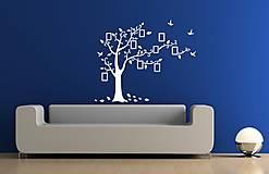 Nálepky na stenu - Rodinný strom s fotorámikmi