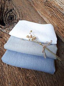 Úžitkový textil - Ľanová utierka Obsession (Modrá) - 9323174_
