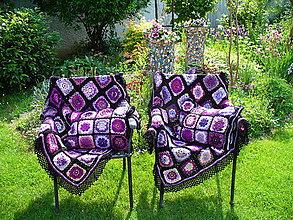 Úžitkový textil - Fialové snenie, súprava - 9321271_