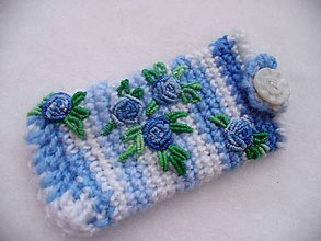 Na mobil - Maličká krása modrej, púzdro na mobil - 9324030_