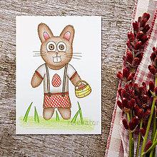 Kresby - Veľkonočná zajka 1 - 9321652_