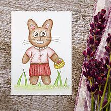 Kresby - Veľkonočné zajace kresby (zajka 2) - 9323350_