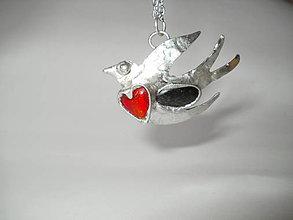 Náhrdelníky - Slobodná ako vták - tiffany - 9327150_