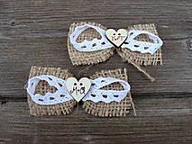 Svadobné pierko  - rustikálna mašlička písmenková