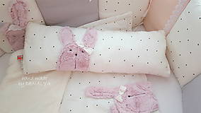 Textil - Mantinel 240x30cm - kolekcia PURE so zajkom Rose Water - 9324408_