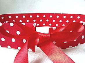 Opasky - Pin Up opasok (červený/biele bodky) - 9326847_