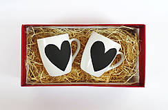 Nádoby - Tabuľové šálky pre zaľúbencov - 9324433_