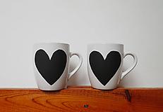 Nádoby - Tabuľové šálky pre zaľúbencov - 9324434_