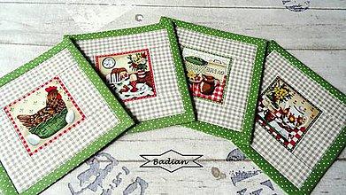Úžitkový textil - Retro Kitchen ... podložky 4 ks - 9325247_