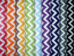 Textil - Bavlnené látky Remix Chevron od Robert Kaufman Fabrics (Čierna) - 9325813_