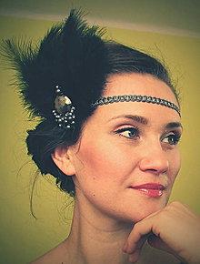 Ozdoby do vlasov - retro čierna perla - 9326448_