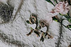 Pierka - Svadobné pierka jutové so zeleným lístkom - 9324777_