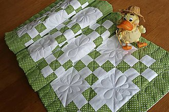 Úžitkový textil - Stredový obrus zelený - 9326756_