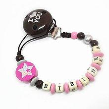 Detské doplnky - Kvalitná retiazka na cumlík na mieru (Ľúbim ťa, moja hviezdička) - 9324260_