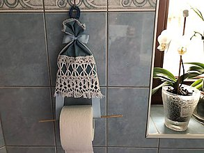 Pomôcky - Vešiačik na wc papier - 9326087_