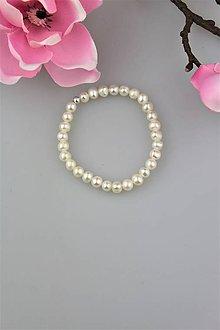 Náramky - perly náramok svadobný - 9326668_