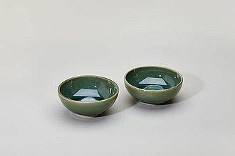 Nádoby - Jarní melounová mini mistička (tmavo zelená) - 9328159_