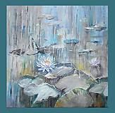 Obrazy - Zátišie na jazere - 9326505_
