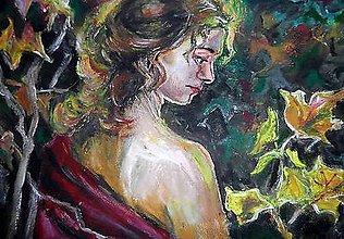 Obrazy - Žena vo viniči - 9326653_