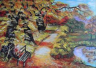 Obrazy - Jeseň v lese - 9326945_